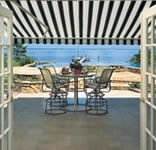 Sunesta Retractable Awning Open Inside View