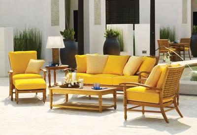 Skyworks Caribbean Reversible Patio Chair Cushion | Meijer.com