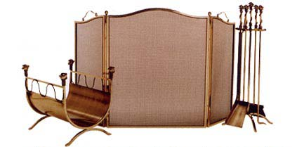 bosse fireplace screen set