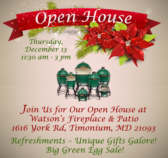 Holiday Open House Dec 13