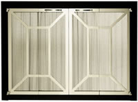 Portland Williamette Fireplace Door Ovation II Arch Deco Center View Non-Corrosive Outdoor Use