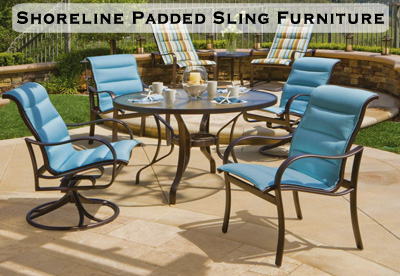 Shoreline Padded Sling Patio Furniture