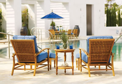Beau Summer Classics Yacht Collection Deep Seating Chairs, Ottomans And End Table