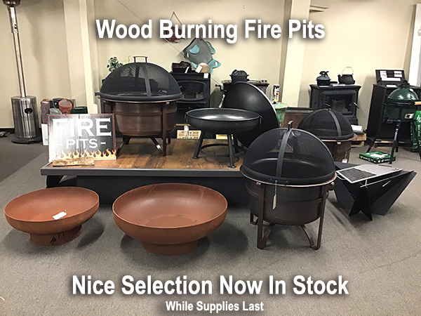 wood burning fire pits in stock at watson's fireplace and patio