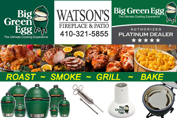 Big Green Egg Grills and Accessories at Watson's Fireplace and Patio
