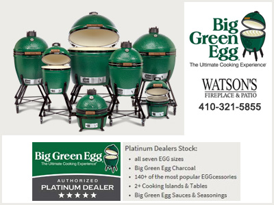 Big Green Egg Grills Watsons Platinum Dealer full stock of grills and accessories