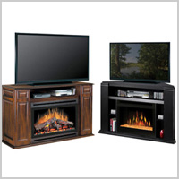 MEDIA CONSOLE FIREPLACES