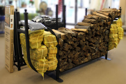 Firewood - Kindling - Metal Log Rack
