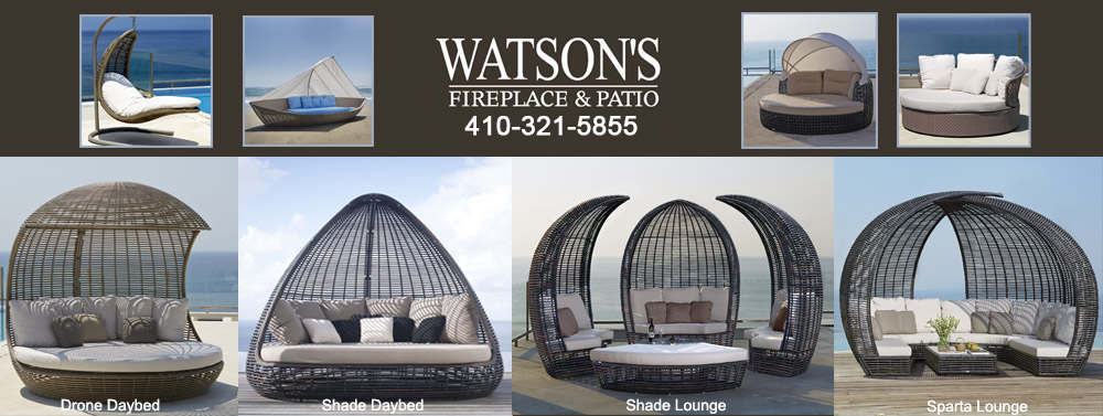 Luxury Daybeds and Lounges at Watson's Fireplace and Patio.