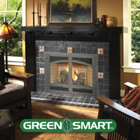 FPX 564 SS Green Smart Gas Fireplace Xtrordinair rectangle arch