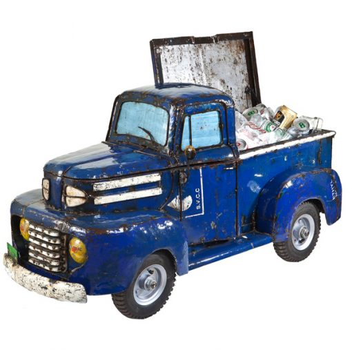 1950s Recycled & Handmade Pick-up Truck – Beverage Cooler  / Metal Sculpture / Toy Chest