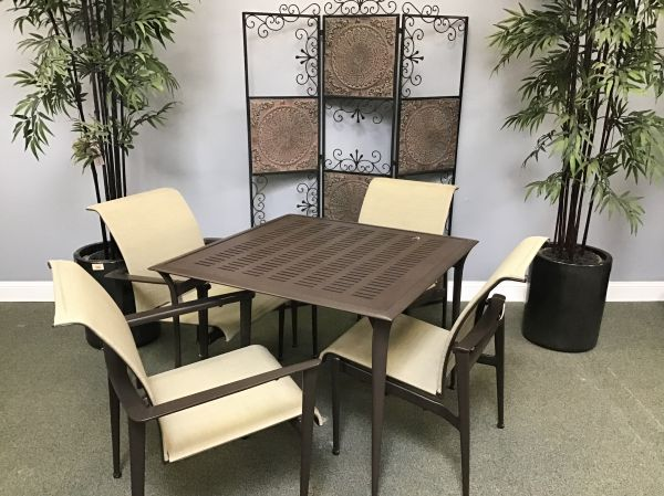 "Patio Dining Set 20 - 36"" Square Bistro Table and 4 Chairs - IN STOCK"