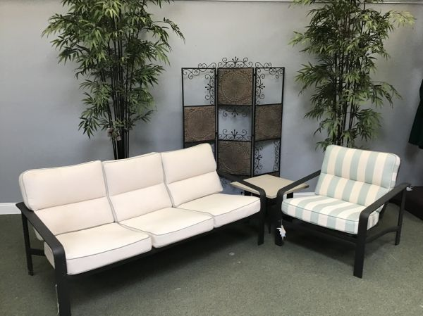 Patio Furniture Set 23 - Softscape Sofa/Chair/Table - IN STOCK