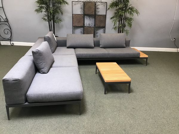 Patio Furniture Set 29 - Sectional Sofa and End Table - IN STOCK