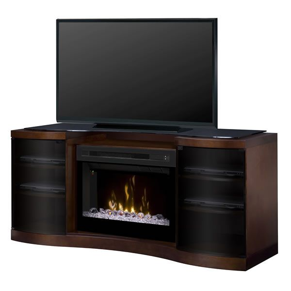 Media Console - Acton Electric Fireplace