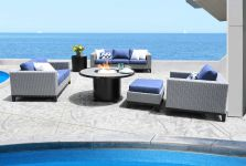 Cabana Coast Tribeca Deep Seating Collection Grey Wicker
