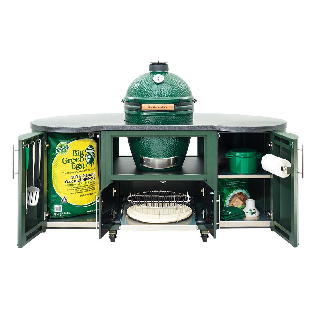 Big Green Egg Grill Table 76 inch Custom Cooking Island