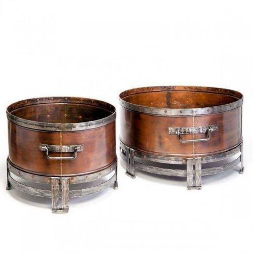 Copperstone Round Fire Pits - Wood Burning