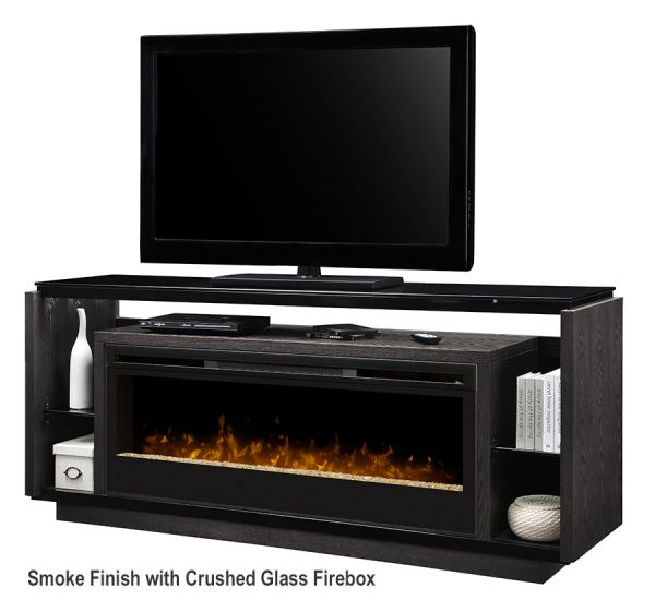 Linear Media Console - David Electric Fireplace