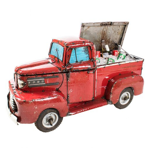 Ford Pick Up Truck – Beverage Cooler  / Metal Sculpture / Toy Chest