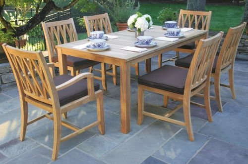 Teak patio furniture watsons fireplace and patio for Outdoor dining sets for small spaces