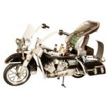 King of The Road Cooler Small Motorcycle Metal Sculpture for Bike Lovers