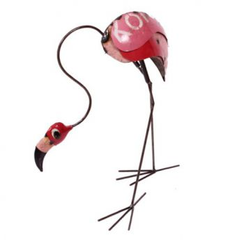 Percy the Flamingo (Head Down) Metal Sculpture