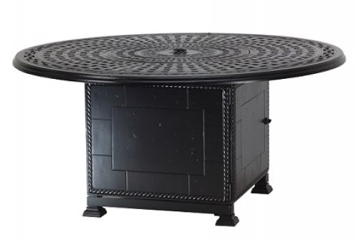 "Gensun Roma 54"" Round Gas Chat Firepit"