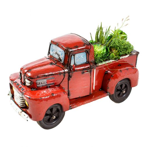 Ford Pick Up Truck Small – Beverage Cooler  / Metal Sculpture / Toy Chest