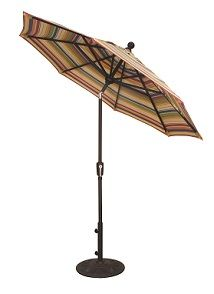 Treasure Garden 6Ft & 7Ft Push Button Tilt Umbrella