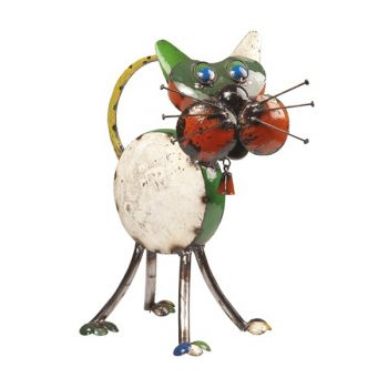 Tabitha the Cat Metal Sculpture