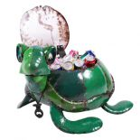 Terrance the Turtle Green Multi Small Beverage Tub Metal Sculpture