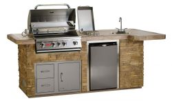 Custom Kitchen BBQ with Island