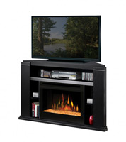 Media Console - Cloverdale Corner Electric Fireplace