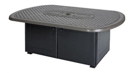 Gensun Grand Terrace Oval Gas Firepit