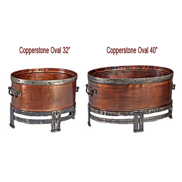 "Copperstone Oval Fire Pit 32"" and 40"" - Wood Burning"