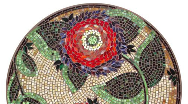 KNF NEILLE OLSON MOSAIC OUTDOOR TABLE - DAHLIA