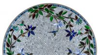 KNF NEILLE OLSON MOSAIC OUTDOOR TABLE - ROYAL HUMMINGBIRD