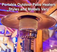 Commercial Patio Heaters - Varying Styles & Models