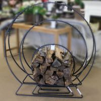 Firewood Log Rack - Round Metal Frame