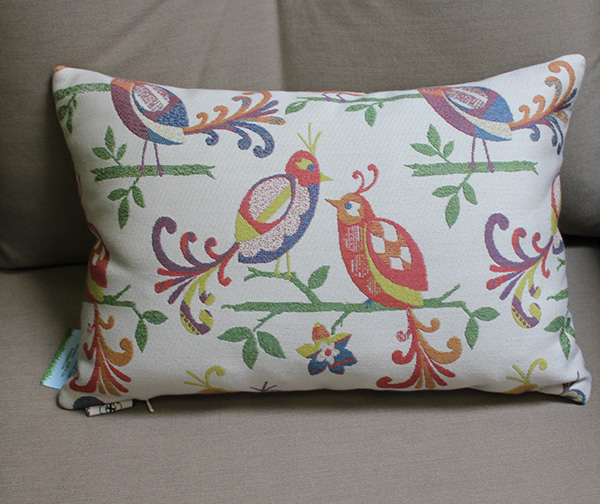 Birds Throw Pillows - Colorful Birds matched with solid accent pillows