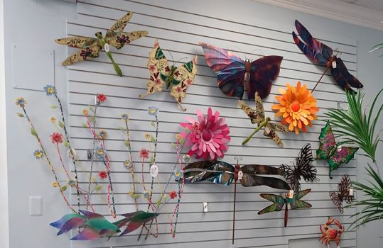 Wall Accents Butterflies Dragonfly Flowers Crab