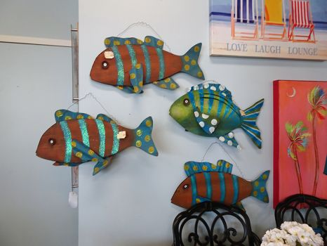 Wall Accents Metal Fish Wall Sculptures