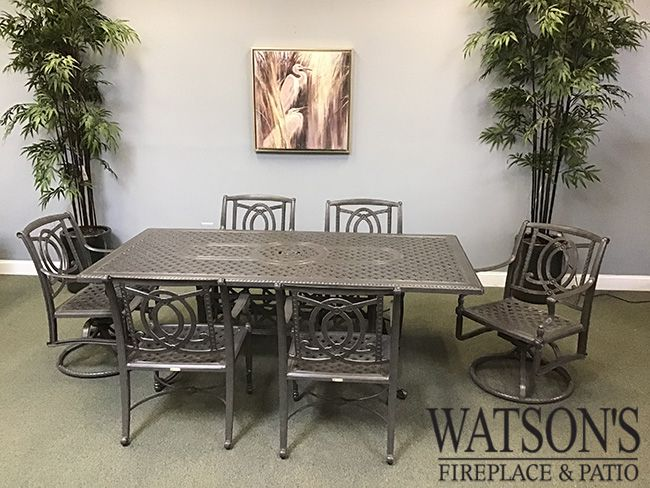In Stock Patio Furniture #1 Gensun Bel Air Dining Group with Grand Terrace Table