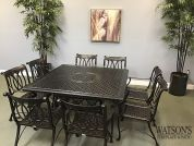 In Stock Patio Furniture #2 Gensun Largo Dining Group with Grand Terrace Table