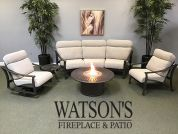 In Stock Cushion Furniture #5 Tropitone Corsica Cushion Set + Firepit