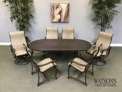 Ravello In Stock Dining Furniture #7 Tropitone Sling Dining Set