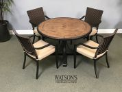 In Stock Patio Furniture #14 Veranda Classics Mulberry Dining Set