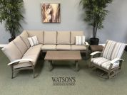 In Stock Cushion Furniture #18 Telescope Belle Isle Sectional Set