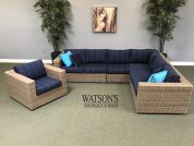 In Stock Cushion Furniture #19 Cabana Coast Louvre Sectional Set